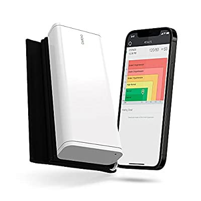 QardioArm Wireless Blood Pressure Monitor: Easy to Use Smart Upper Bluetooth Arm Cuff. App-enabled for iOS, Android, Apple Watch. FSA/HSA eligible. from Qardio