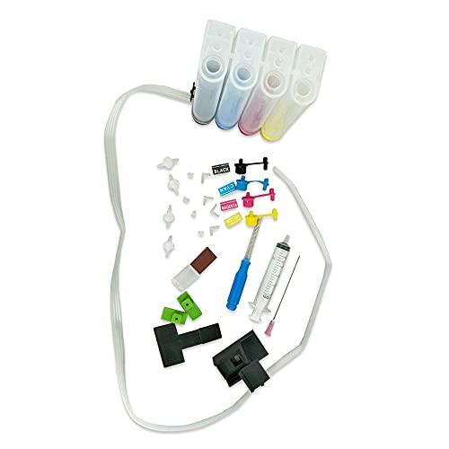 664 664XL DIY CISS Compatible con Compatible con HP Deskjet 1115 2135 3635 1118 2138 3636 3638 4536 4676 4675 Impresora Sistema de Suministro de Tinta Continuo de 4 Colores 🔥