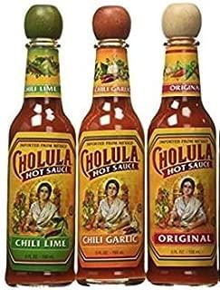 Cholula Original 5 oz, Chili Lime 5 oz & Garlic 5oz Flavors (Variety Pack)