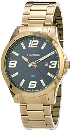 Relógio Technos, Pulseira de Aço Inoxidável, Masculino Dourado 2115MPIS/4A