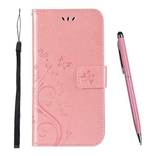 TOUCASA Hülle Kompatibel mit Samsung Galaxy Note 9,Brieftasche PU Leder Flip Case [Colourful Painting] Case Handytasche Klapphülle für Samsung Galaxy Note 9 (Rosa)
