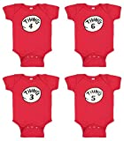 Things Funny Baby Suite - Things Red Baby Suite (Newborn, Thing 4)