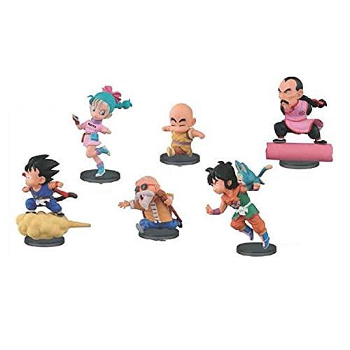 6 Unids / Set Dragon Ball Z Flight Vegeta Mark Son Goku Krillin Bulma Son Gohan Figura De Acción 6Cm PVC Juguete De Modelos Coleccionables