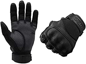 Tactical Gloves Military Shooting Gloves Hard Knuckles for Full Finger Gloves Climbing Hunting Hiking Cycling Shooting Touchscreen Gloves