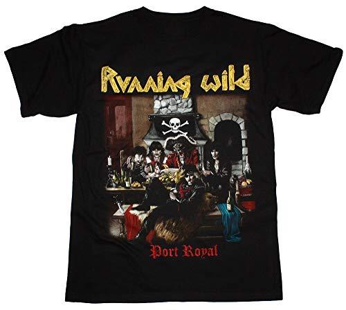 Running Wild Port Royal X-Wild Grave Digger Rage Helloween New Black T-Shirt