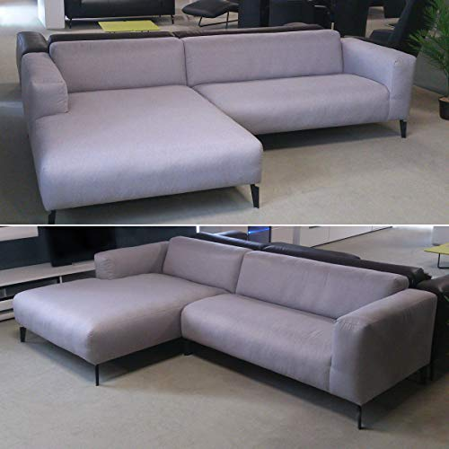 Möbel Akut Ecksofa Freistil 186 Links ROLF Benz Couch modern Sofa grau 286 cm