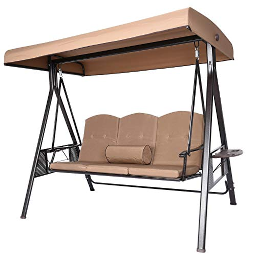 Outdoor Patio Swing Chair, 2/3 Seat Porch Swing...