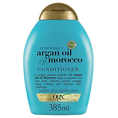 OGX Acondicionador sin Sulfatos para Pelo Dañado, Aceite de Argan de Marruecos, 385 ml