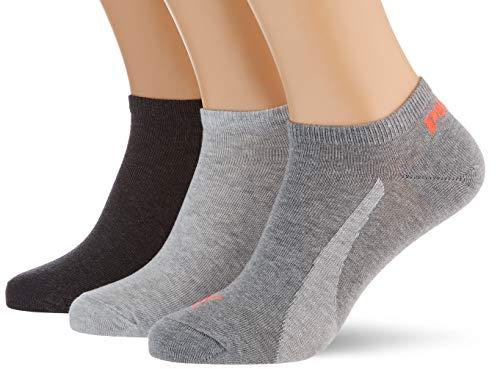 PUMA Lifestyle Sneaker-Trainer Socks (3 Pack) Calcetines, Neon Pink, 35/38 Unisex Adulto