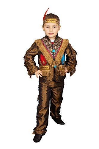 M&G Atelier Indianer Kinder Jacke und Hose Kostüm Jungen Karnevalskostüm Karneval Fasching (104)