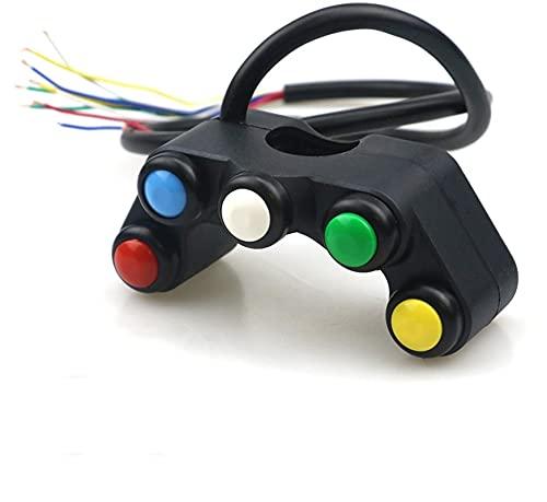 Controla el Interruptor de la luz Interruptor De Motocicleta Universal 22mm Start Manillar Controller Boton Modificación del Accesorio para manillares (Color : D Style Switch)
