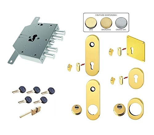 Kit de cerradura completo para puerta blindada de cilindro europeo Kaba Matrix para ESETY CORNI distancia entre ejes 25