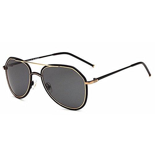 Ppy778 Gafas de Sol polarizadas Retro Vintage para Hombres Deporte al Aire Libre Metal metálico Ultraligero Lentes HD Lentes Gafas Air Force Unisex UV 400 Protección (Color : Silver)