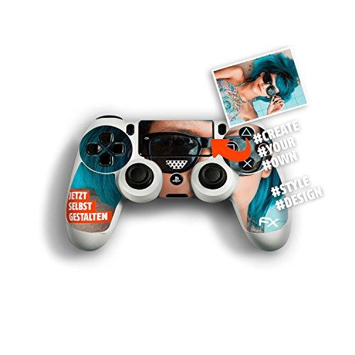 atFoliX Personalisierbare Designfolie kompatibel mit Sony Playstation 4 Controller PS4 - gestalte deinen Skin Aufkleber im Custom-Konfigurator einfach selbst