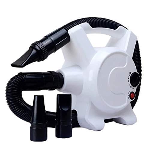 MZP Profesional Secador Pelo Perros y Mascotas Potencia 2200W Low Noise Perros Cuidado secador Calor Ajustable y Velocidad para Perros Gatos Animales (Color : White)