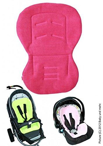 ByBoom - Baby Sitzauflage/Sitzeinlage Moby mit Sommer- und Winterseite, Universal für Babyschale, Autokindersitz, z.B. für Maxi-Cosi, Römer, für Kinderwagen o. Buggy, Farbe:Fuchsia