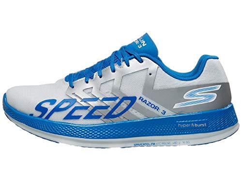 Skechers Go Run Razor 3 Hyper Running Shoe, White/Blue - 8.5 M US