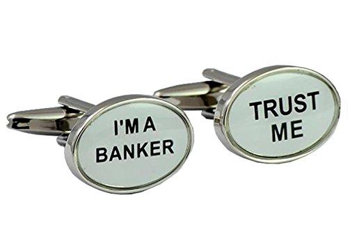 Gudeke Trust Me I'm A Banker Boutons de Manchette de Chemise Français