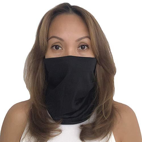 AGLAGAN Neck Gaiter Mask Unisex Scarf Reusable Cover Balaclava Protection Bandanas UV Black