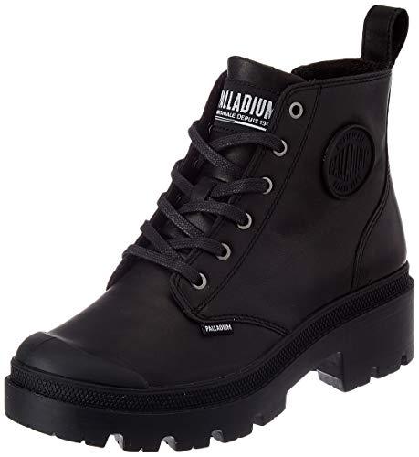 Palladium Damen Pallabase Leather Stiefelette, Schwarz/Schwarz, 42 EU