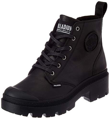 Palladium Women's Combat Boots Ankle, Black, US 7.5