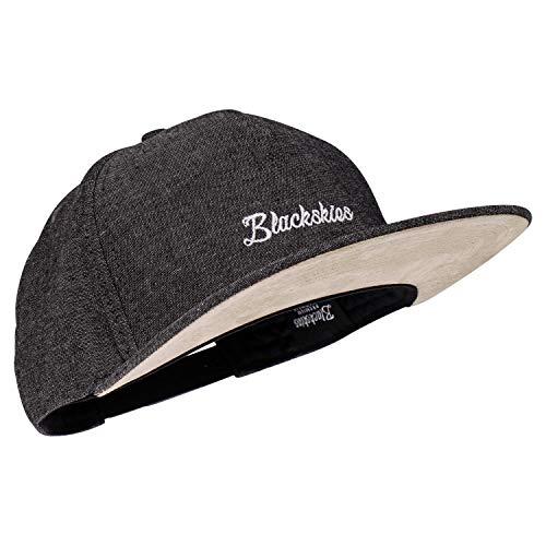 Blackskies EOS Vol. II Snapback Cap   Jeans Schwarz Schirm Unisex Premium Baseball Mütze Kappe Denim Basecap Stick