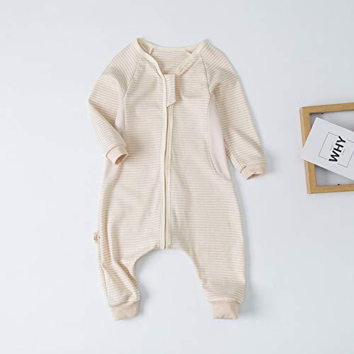 Saco De Dormir Para Bebé Verano Sección Delgada Algodón Recién Nacido Joven Pierna Dividida...