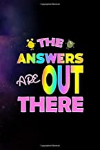 The Answers Are Out There: All Purpose 6x9 Blank Lined Notebook Journal Way Better Than A Card Trendy Unique Gift Purple Sparkling Sky Aliens