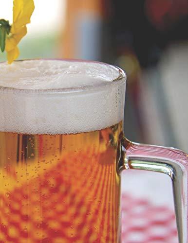 Bier Tasting Buch: Dein persönliches Verkostungsbuch zum selber ausfüllen ♦ für über 100 verschiedene Bier Sorten, Craft Beer, Pils, Pale Ale oder IPA ♦ Großzügiges A4+ Format ♦ Motiv: Bier und Blume