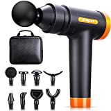 Birthday Gifts for Men Muscle Massage Gun deep Tissue, 20 Speeds Deep Percussion Massager Gun for Athletes with Carrying Case & 8 Heads, Help Neck Back Body Muscle Pain Relief