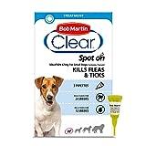 Bob Martin Clear   Spot On Flea Treatment for Small Dogs (2-10 kg)   Kills Fleas, Ticks & Lice   Fast Control, 24 Week Protection (3 Pipettes)
