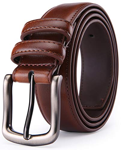 Men's Genuine Leather Dress Belt - XDeer Classic Belt With Single Prong Buckle