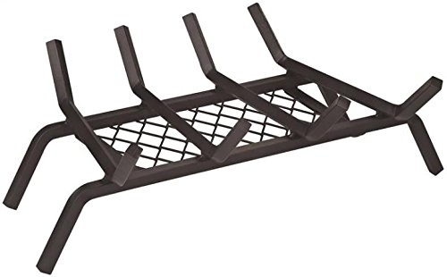 "Find Bargain Rocky Mountain Goods Fireplace Grate with Ember Retainer - 1/2"" Heavy Duty Cast Iron ..."