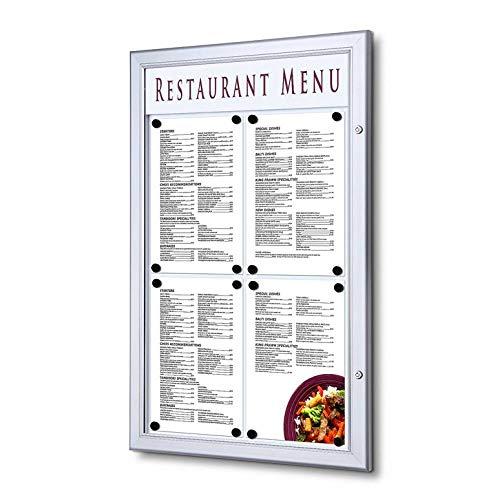 UNIPOS® Vitrina porta menú exterior (4XA4)