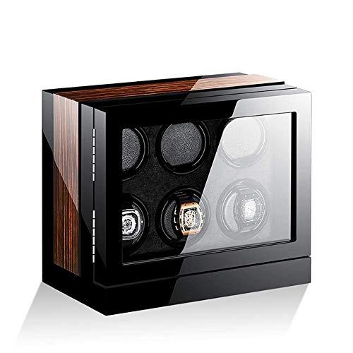 GUOOK GUOOK Holz 6 + 0 Uhren Automatik Uhrenbeweger Aufbewahrungsbox mit LCD-Touchscreen L32