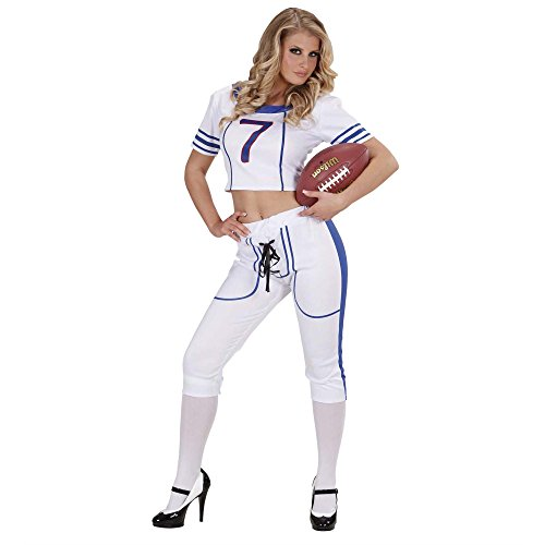 Widmann 77351 ? Adultes Costume American Football Girl, Top et Pantalon, S