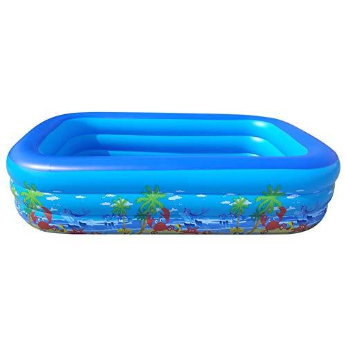 Flsomly - Piscina hinchable rectangular compacta, duradera, hinchable, suave, segura y hinchable, para familias