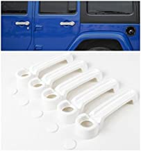 Niceautoitem 9Colors ABS Car Exterior Door Handle Cover and Tailgate Handle Cover for Jeep Wrangler 4-Door 2007-2017 (White)