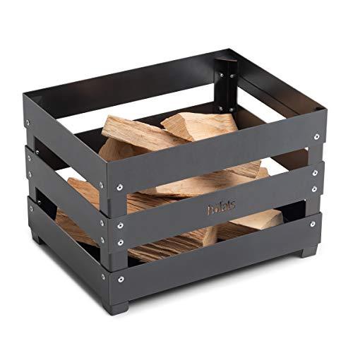 höfats - Crate Feuerkorb - Weinkiste, Feuerstelle und Grill in einem - für Garten, Terrasse und Camping - Corten-Stahl