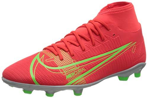 Nike Herren Mercurial Superfly 8 Club MG Soccer Shoe, Bright Crimson/Metallic Silver-Indigo Burst-White-Rage Green, 41 EU