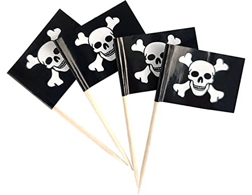 Pirate Jolly Roger Flag Toothpicks Pirate Skull Flags