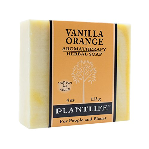 Plantlife Handmade Vegan Soap Bar with Natural Ingredients and Premium Essential Oils - Vanilla Orange - 4 oz