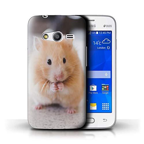 eSwish Carcasa/Funda Dura para el Samsung Galaxy Trend 2 Lite/G318 / Serie: Lindos Animales de Compañía - Hámster Dorado