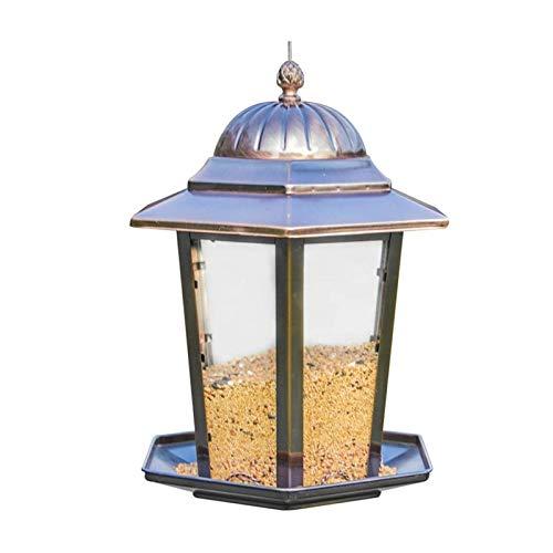Comedero para Pájaros Alimentadores de Aves al Aire Libre Contenedor de Alimentos Colgante Pájaro Pájaro Envase decoración de jardín Inicio Balcón Decorativo Pájaro Salvaje Alimentador