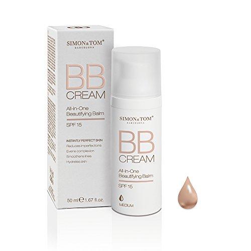 Simon&Tom BB Cream All-in-One Beautifying Balm, 3 Tonalità. Multibenefici in una sola crema: idrata, illumina e protegge. 50ml