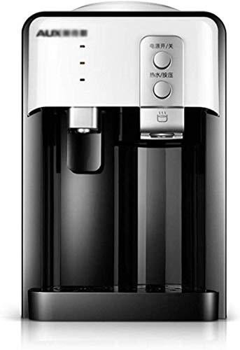 Dispensador Agua Escritorio Negro con Apagado automático Lámina Acero Inoxidable 304 Pequeño dispensador Agua Escritorio Vertical enfriamiento en frío y Caliente para el hogar