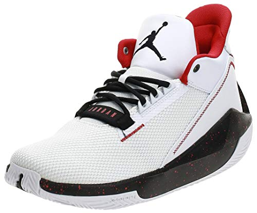 Nike Herren Jordan 2x3 Basketballschuh, White/Black-Gym RED, 41 EU