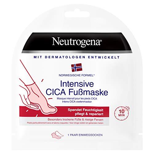 Neutrogena Norwegische Formel Fußpflege, Intensive Cica Fußmaske, für trockene Füße und rissige Fersen, 1 Paar