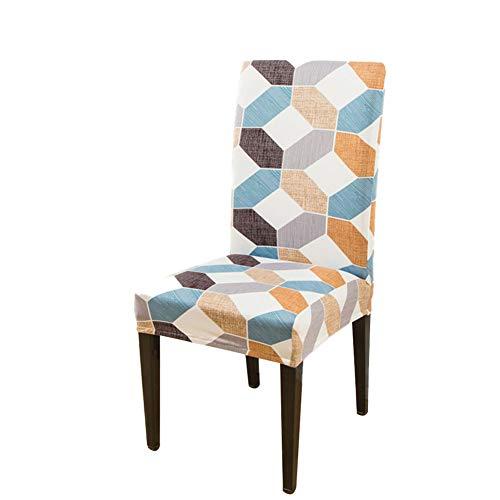 Fundas universales para sillas de comedor, modernas y elásticas, de una sola pieza, fundas protectoras para sillas de comedor extraíbles y lavables. (2-38, 4 piezas)