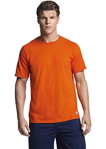 Russell Athletic mens Performance Cotton Short Sleeve T-Shirt, burnt orange, XL